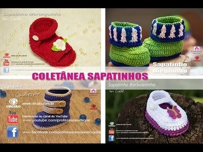 Coletânea de Sapatinhos de Crochê - Professora Simone