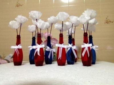 Como fazer Flor de Papel de Seda - Tutorial