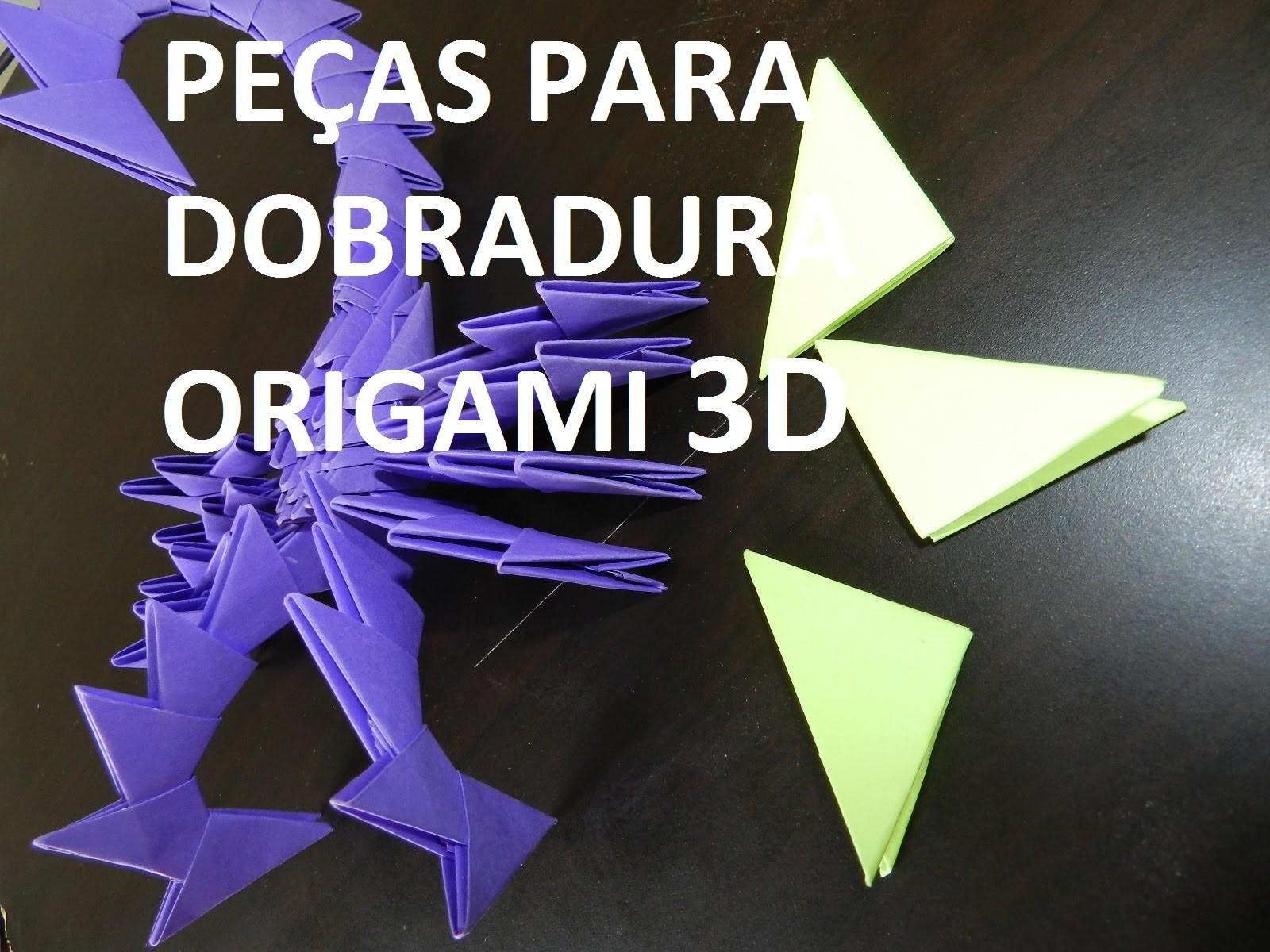 Como fazer peças origami dobradura 3d passo a passo