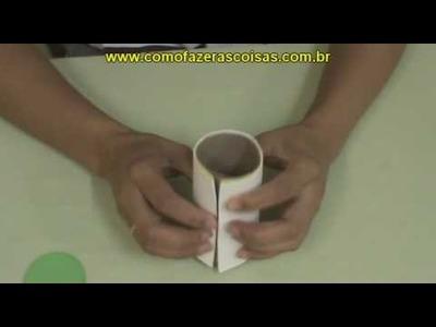 Como fazer um coelhinho da páscoa de E.V.A e rolinho de papel - parte 2