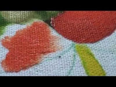 Como pintar cesto de amor perfeito com folhas envelhecidas. Segunda parte: pintando flores e folhas.