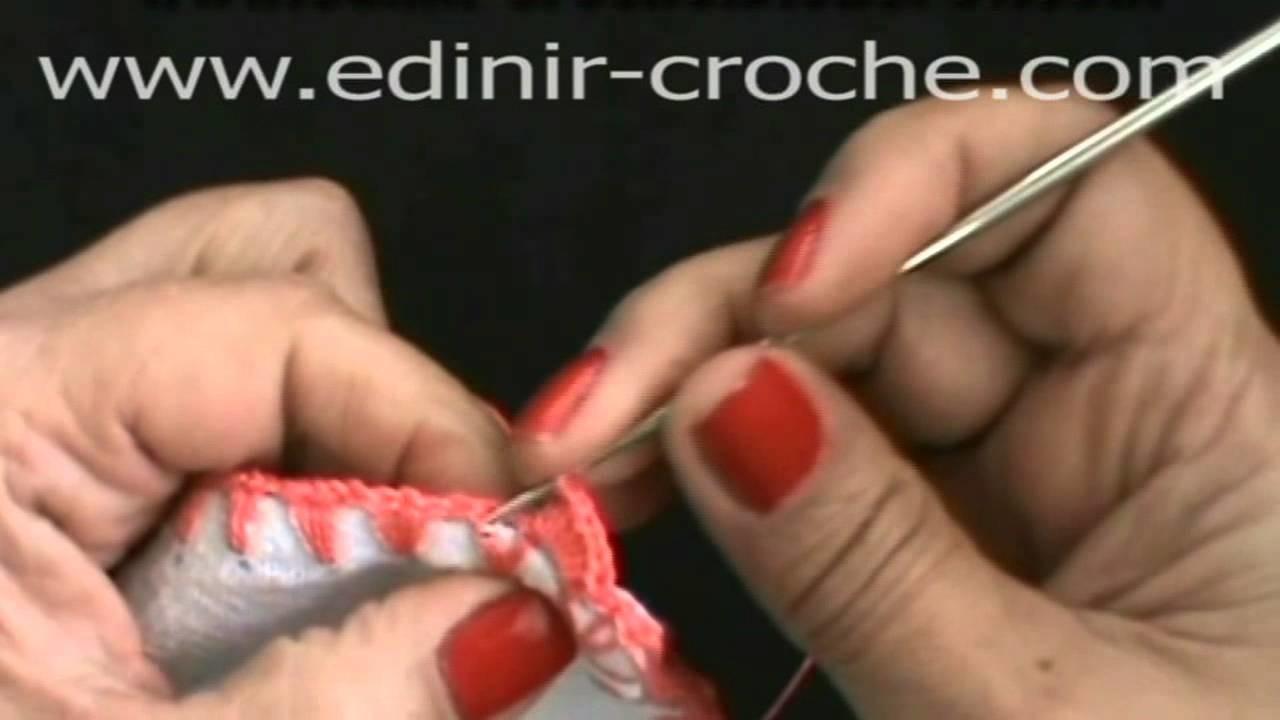 CROCHE AULA 29 FAZENDO BIQUINHO 2 NO PANO DE COPA (HD)