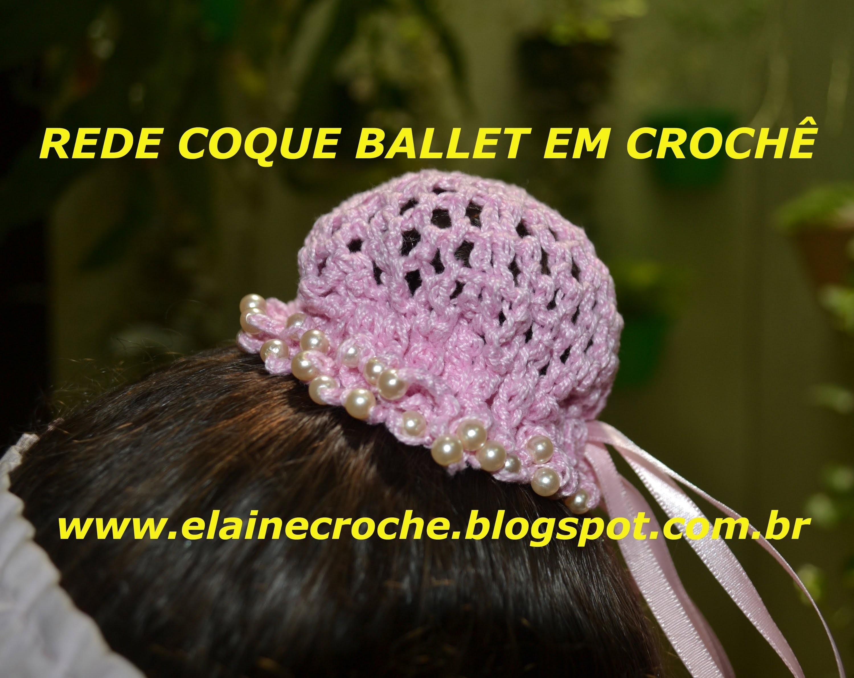 CROCHE PARA CANHOTOS - LEFT HANDED CROCHET - REDE PARA COQUE BALLET EM CROCHÊ CANHOTAS