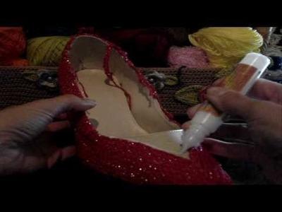 Crochê - Sapato Vermelho - Parte 03.04