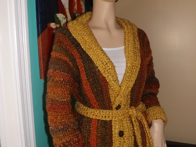 Crochet Abrigo O Cardigan Para El Otoño
