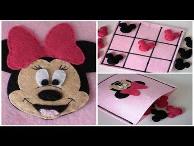 DIY - Faça você mesmo - Jogo da Velha da Minnie