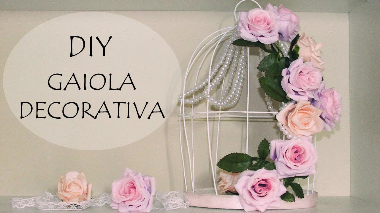 DIY: Gaiola Decorativa com Flores e Pérolas (Decoração Quarto, Noivado, Dia Namorados e Casamento)