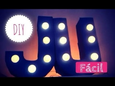 DIY: Letras como luminária (fácil) decoração de quartos
