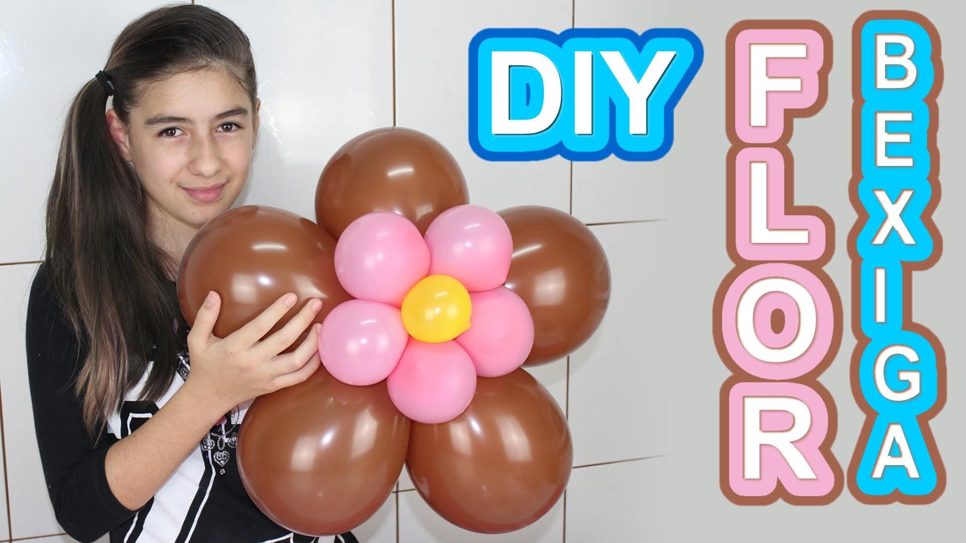 Flor de Bexiga Como Fazer (Decoração, Enfeite, Festa, Arte, Balão) Flower with Balloons (Bladder )