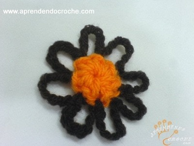 Flor de Croche Campo - Aprendendo Crochê