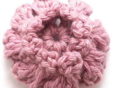 Flor pipoquinha de crochê