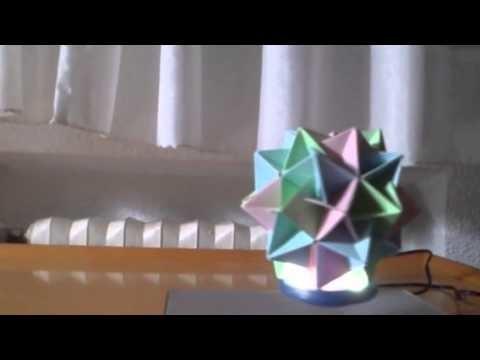 Levitación magnetica de estrella de origami