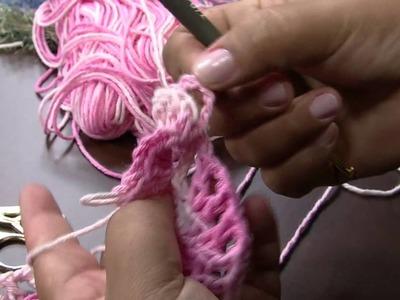 Mulher.com 21.03.2014 Mislene Gomes - Flor de crochê Parte 1.2