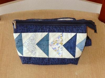 Necessaire.organizador de bolsa em patchwork Doris - Maria Adna Ateliê - Cursos e aulas de patchwork
