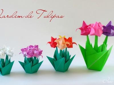 Origami: Jardim de Tulipas - Tulip Garden