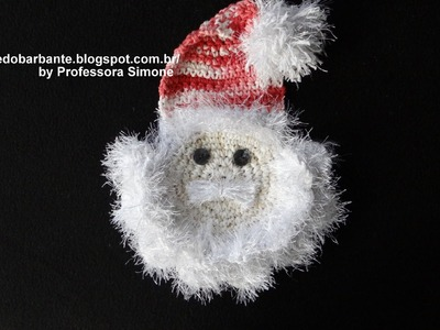 Papai Noel Barroco Decore em Crochê parte-1
