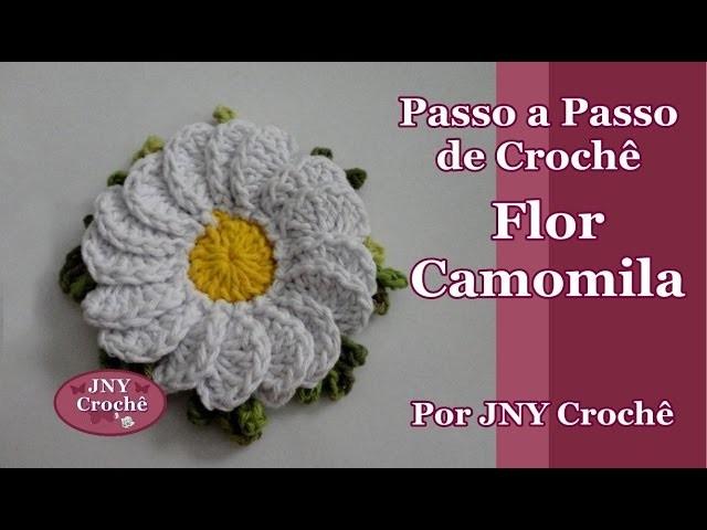 Passo a Passo Flor de Crochê Camomila por JNY Crochê