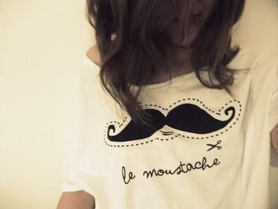 Personalizar uma camisa (simbolo bigode) por Bárbara Piracelli, Blog Por um Capricho