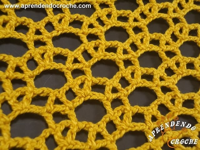 Ponto de Crochê Rendado com Argolas - Aprendendo Crochê