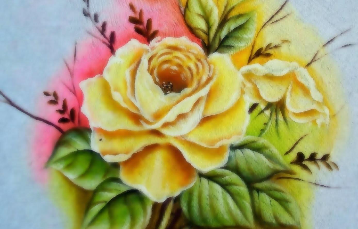 Rosa Porcelanizada-Do desenho à Pintura!