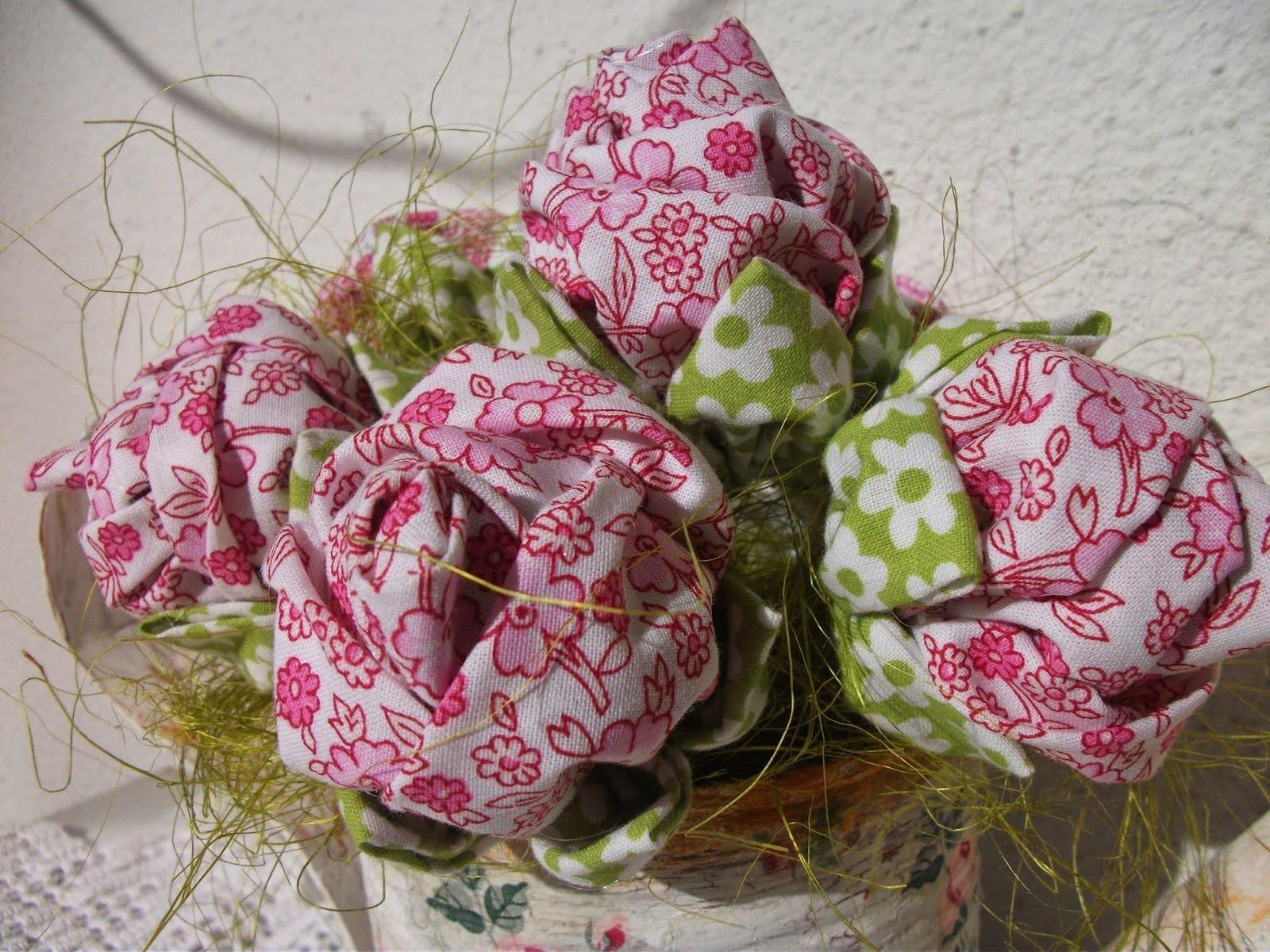 Rosas de tecidos, flores de tecido como fazer