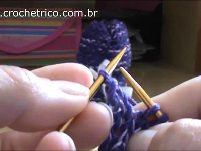 Tricô para Canhotas - Luvas Yasmin (0 à 3 Meses)