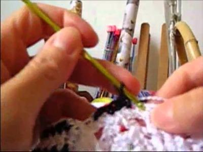 Crochê para Canhotas - Blusa Reveillon - Parte 04.04