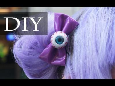 DIY: Como Fazer Presilha para Cabelo de Laço e Olho (Eyeball Bow)