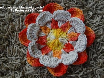Flor Raio de Sol em Crochê  Parte-1