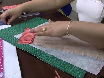 Mulher.com 13.08.2014 Regina Heitor - Porta livros patchwork