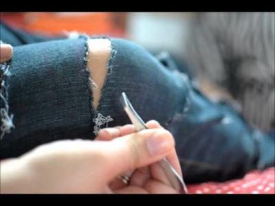 Como customizar sua Calça Jeans!