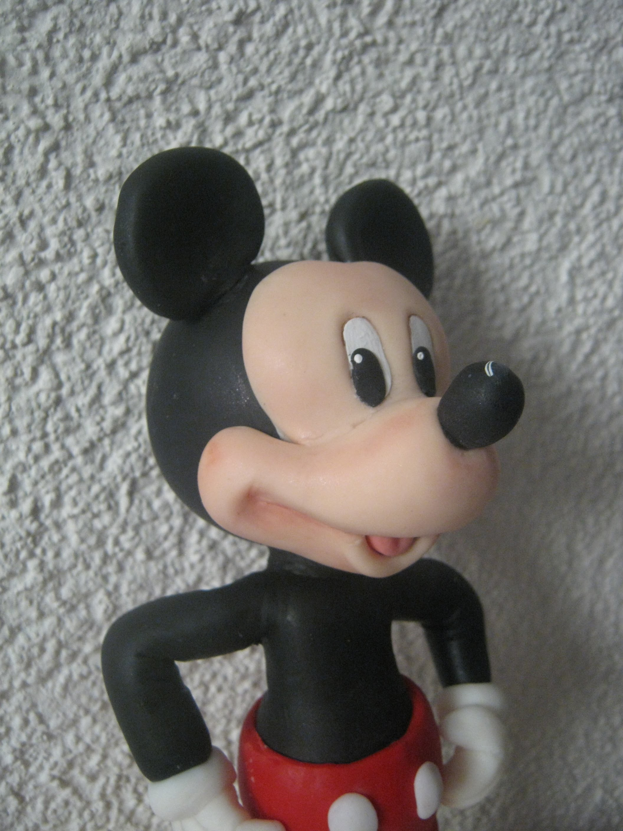 2° Parte Mickey Mouse , Topo do Bolo - Biscuit. Porcelana Fria