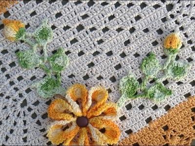 Aplicação das folhas no Tapete nº 12 - Tutorial - Parte Única