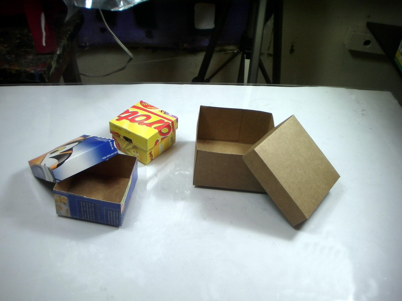 Artesanato:Como fazer caixas de papelão fino