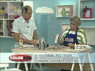 Colorgin no Ateliê na TV - Apliques de borboletas em PET reciclada e Spray Colorgin