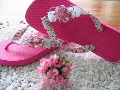 Como fazer chinelos decorados