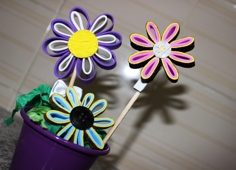 Como Fazer Flor de EVA  - Centro de Mesa
