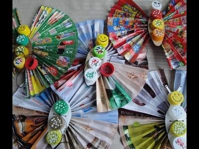 Como Fazer Marionete Borboleta de Origami #05 - Asas e Corpo