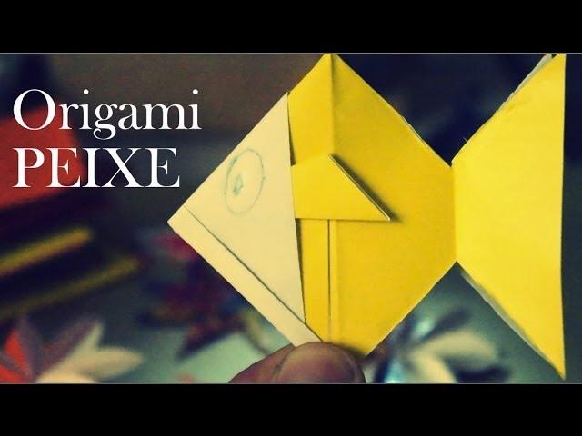 Como fazer um Peixe de papel Origami dobradura  How to make a Origami Fish