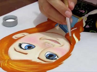 Como pintar o cabelinho da Anna do Frozen?