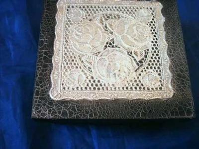 Craquele e Decoupagem  com  Linholene By Mary Marcondes