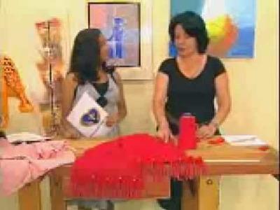 Crochê tunisiano com Mary - caminho de mesa 03