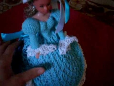 Croche Vestido azul parte 1