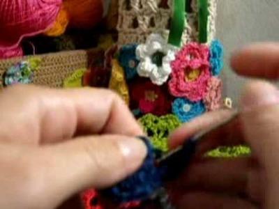 Crochet - Flor Azul