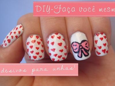 DIY: Aprenda a fazer adesivos.peliculas de unhas