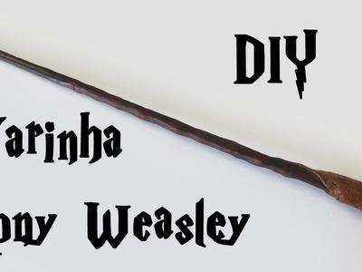 DIY: Como Fazer a Varinha Rony Weasley (Harry Potter Wands)