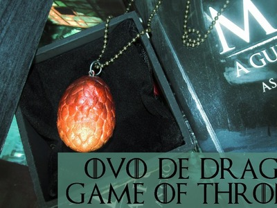 DIY: Como Fazer Pingente Ovo de Dragão GAME OF THRONES (Dragon's Eggs Necklace Tutorial)