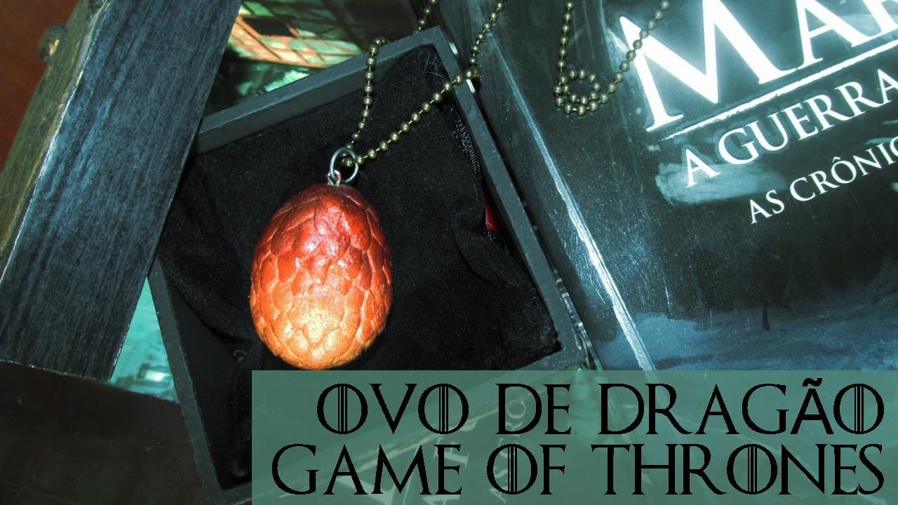 DIY: Como Fazer Pingente Ovo de Dragão GAME OF THRONES (Dragon's Eggs Necklace Tutorial)