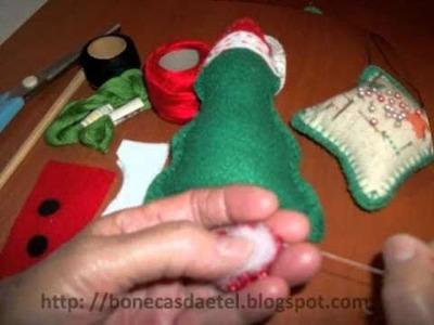 Enfeite de Natal em feltro