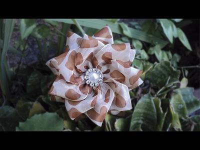 Flor com fita de organza | DIY - PASSO A PASSO